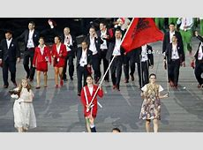 Olympic teams show off their uniforms and spirit at