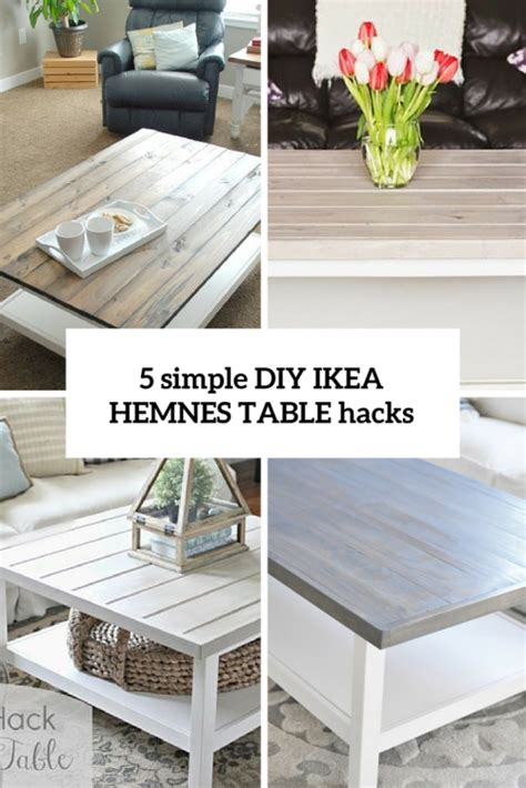 5 best ikea lack coffee 5 simple diy ikea hemnes coffee table hacks shelterness