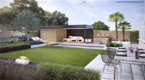 Eco Tuinarchitectengroep  3d Projecten  Loungetuin Met