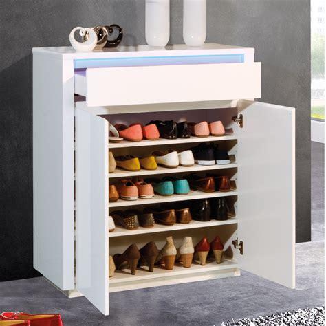 bureau 90 cm meuble chaussures blanc laqu design avec clairage led