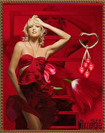 Belle Centerblog Femmes Gifs Rouge Amitie Romantiques