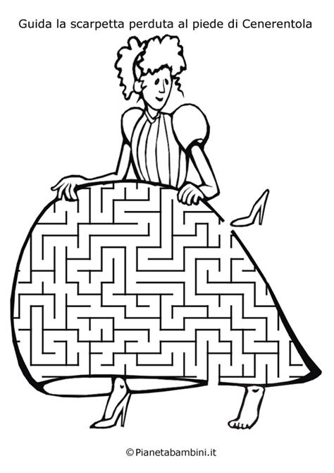 labirinti  bambini dedicati ai personaggi delle fiabe