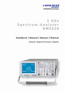 Hameg Hm5530 Spectrum Analyzer Um Service Manual Download