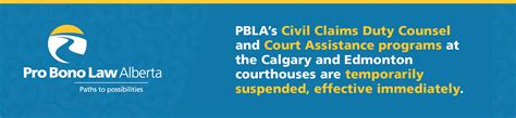 COVID-19 and PBLA Court Program Closures - Pro Bono Law ...
