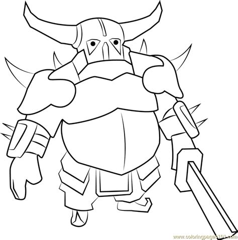 pekka coloring page  clash   clans coloring