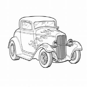cool hot rod coloring pages download vector about hot rod With 34 ford hot rod