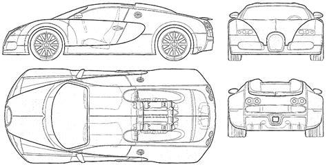 Car Blueprints / Чертежи автомобилей - Bugatti