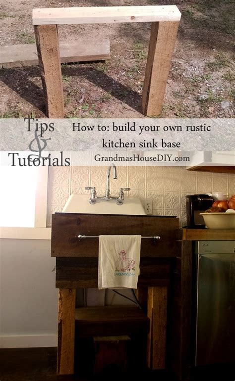 rustic kitchen sink how to build your own rustic kitchen sink base country diy