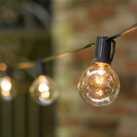 globe string lights 2 in bulbs c9 25 ft black wire