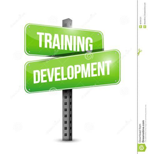 training development road sign illustration design stock