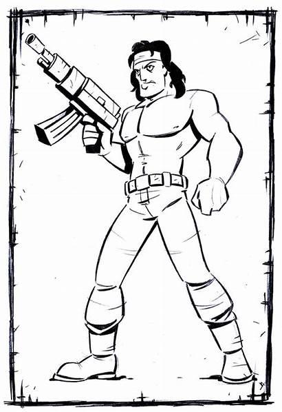 Rambo Drawing Getdrawings