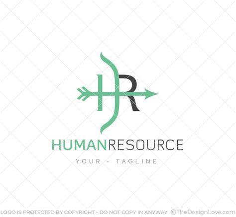 hr logo business card template  design love