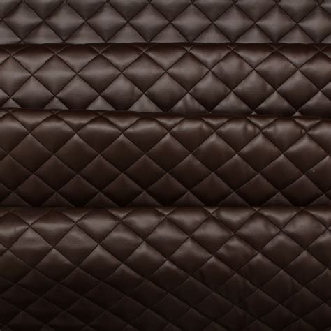 Leather Upholstery by Quilted Leather Padded Cushion Faux Leather