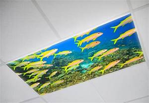 Beautiful suspended ceiling ocean lights panel