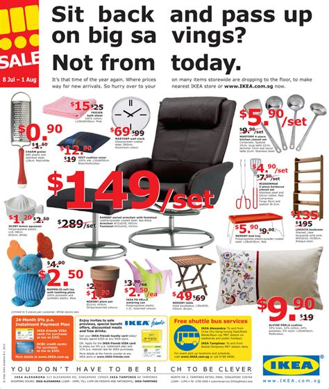 ikea si鑒e ikea sale 2010 great deals singapore