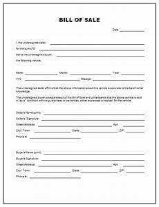 free printable free car bill of sale template form generic With trade bill of sale template