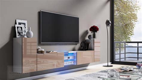 Lowboard Design Möbel by Kaufexpert Tv Lowboard Galaxy Cappuccino Hochglanz Wei 223