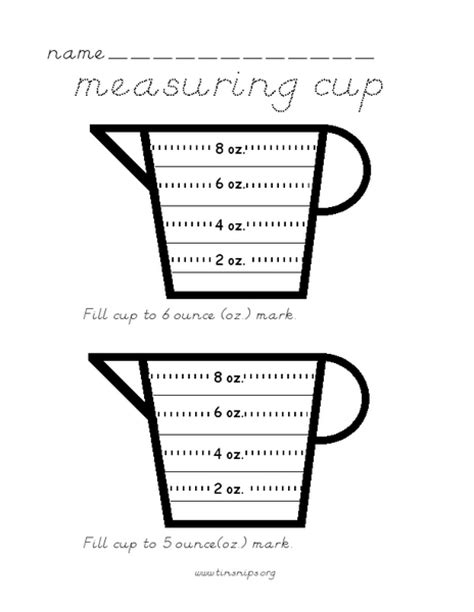 Cooking Measurement Math Worksheets  Free Customary