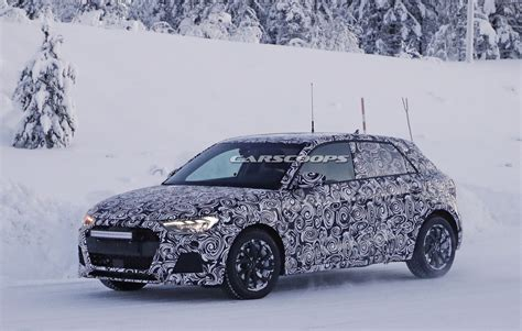 2019 Audi A1 Scooped Playing In The Snow Carscoops