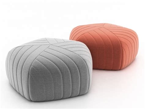 wicker kitchen furniture five pouf 3d model muuto