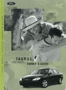 2003 Ford Taurus Owners Manual User Guide Reference