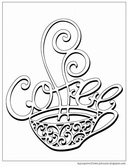 Coloring Coffee Pages Cup Tea Cups Sheets