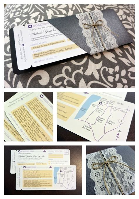 diy boarding pass wedding invitation template free