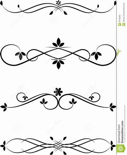 Border Frame Label Elements Calligraphy Designs Calligraphic