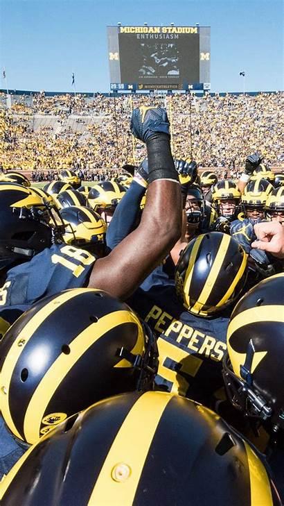Michigan University Wolverines Wallpapers Screensaver Stadium Iphone