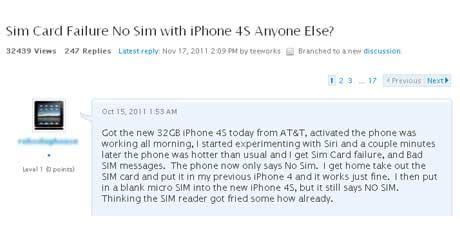 iphone sim failure apple iphone 4s refusing to identify sim cards techgadgets