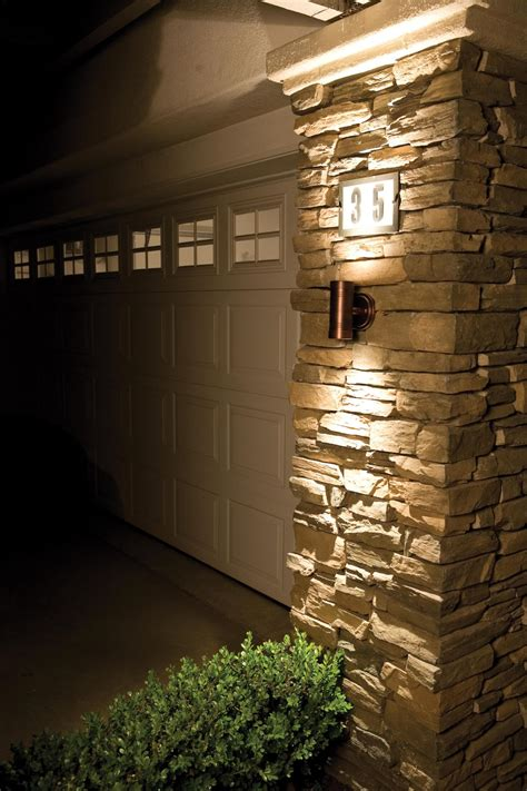 exterior wall stone cladding house design  outdoor led