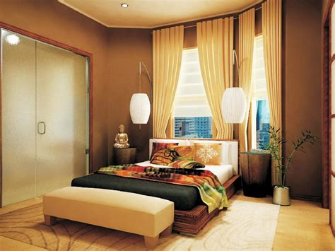 Awesome Design Of Asian Bedroom Decor With Wooden Bed