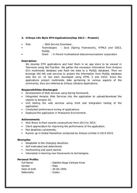 Us Multinational Style Resume by Resume