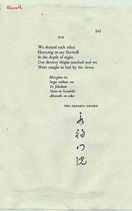 Poem translated by Kenneth Rexroth source: poetrystore.com ...