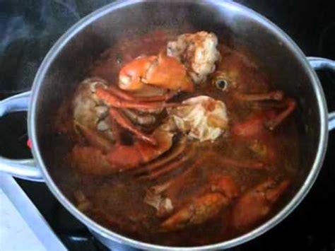 recette de cuisine camerounaise okrasoße mit krabben scharf sauce gombo aux crabes