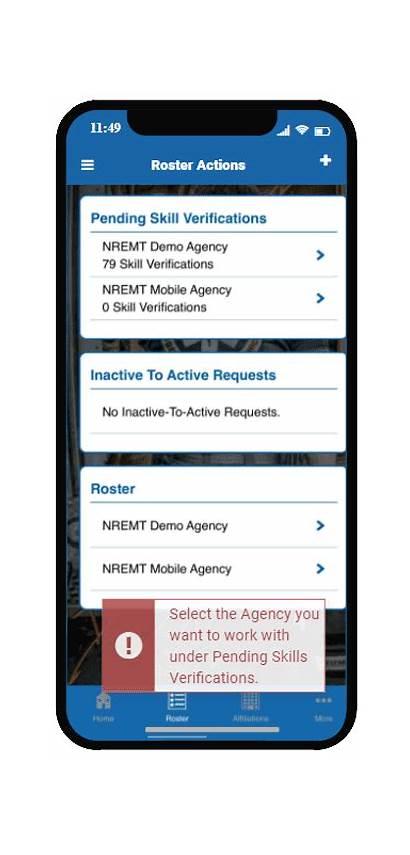 Medical Director Verify Skills Mobile Roster Agency