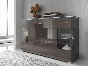 Sideboard Sand Hochglanz : sideboard kommode grau lavagrau fronten hochglanz optional led beleuchtung m bel side ~ Indierocktalk.com Haus und Dekorationen
