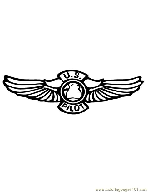 pilot wings coloring page  shapes coloring pages