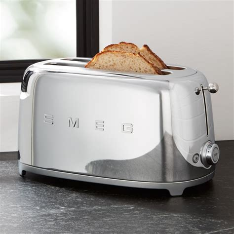 Retro Toaster by Smeg Silver 4 Slice Retro Toaster Reviews Crate And Barrel