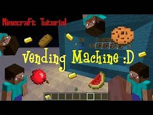 Minecraft Tutorial: Vending Machine! (No mods) - YouTube