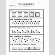 Critical Thinking Following Directions Worksheet  Education World