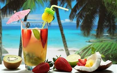 Cocktails Cocktail Fruity Wallpapers Tropical Drinks Beach