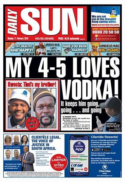Headlines Newspaper Today Sa February Daily Sun
