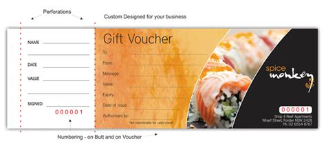 gift voucher printing printed gift vouchers gift
