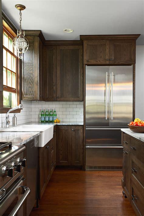 dark brown kitchen cabinets transitional kitchen