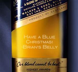 have a blue chrismas with engraved johnnie walker brian With blue label engraved
