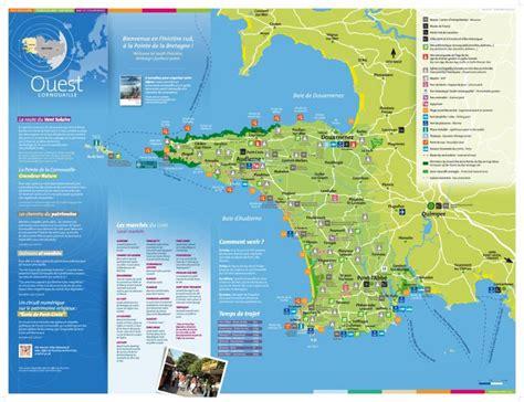Carte De Touristique Ouest by Pays Bigouden Cap Sizun Pays De Douarnenez La Carte