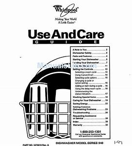 Whirlpool Series 940 Use And Care Manual Pdf Download