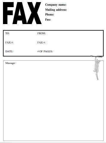 blank fax cover letter  samplebusinessresumecom