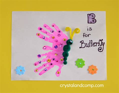 print b is for butterfly 519 | Hand Print Art B is for Butterfly copy